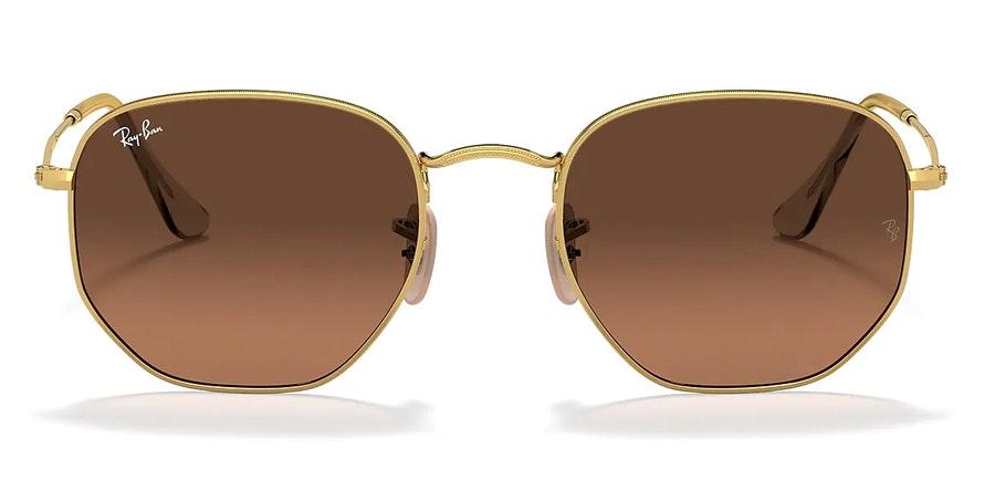 Ray-Ban Hexagonal RB 3548N (912443) Sunglasses Brown / Gold