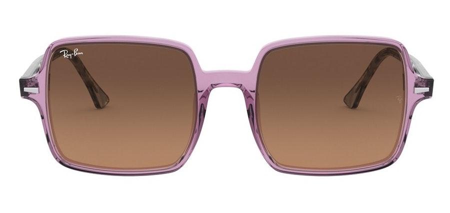 Ray-Ban Square II RB 1973 (128443) Sunglasses Brown / Purple