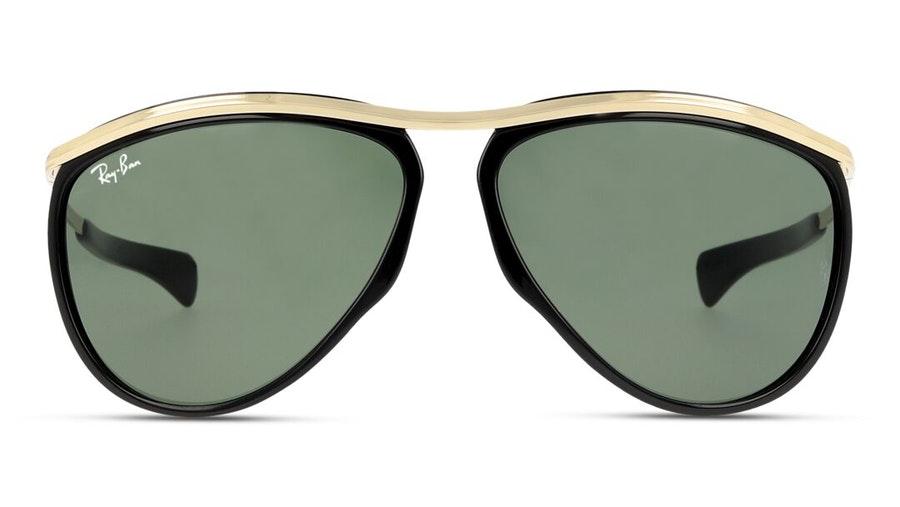 Ray-Ban Olympian Aviator RB 2219 Unisex Sunglasses Green / Black