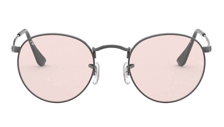 Ray-Ban Round Metal RB 3447 (004/T5) Sunglasses Pink / Grey