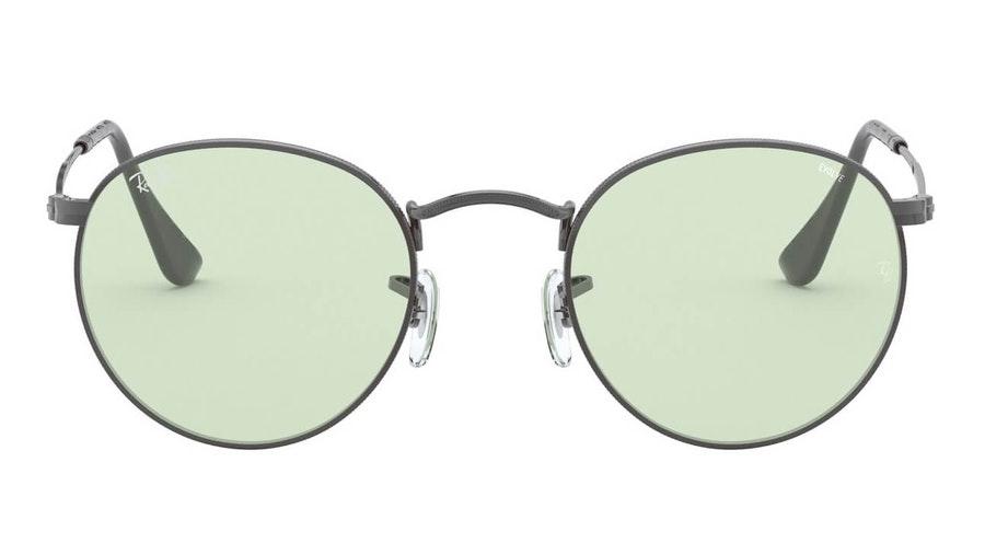 Ray-Ban Round Metal RB 3447 Unisex Sunglasses Green / Grey