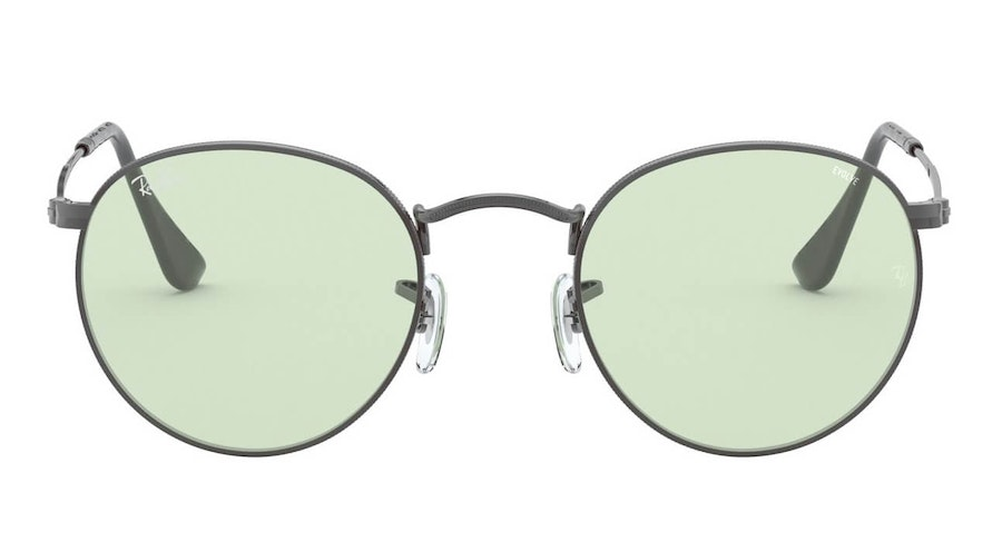 Ray-Ban Round Metal RB 3447 Unisex Sunglasses Green/Grey