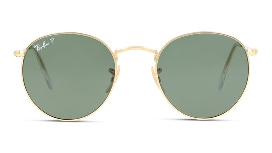Round Metal RB 3447 Men's Sunglasses Black / Gold