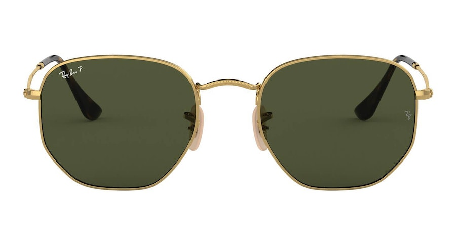 Ray-Ban Hexagonal RB 3548N Men's Sunglasses Green/Gold