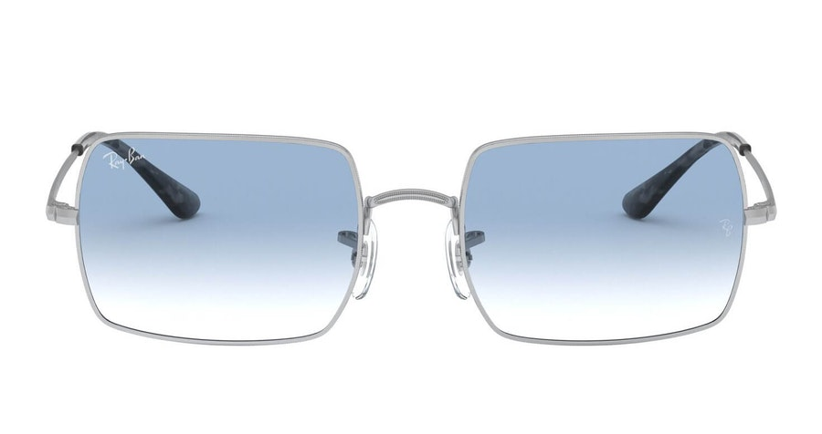 Ray-Ban Rectangle RB 1969 Unisex Sunglasses Blue/Silver