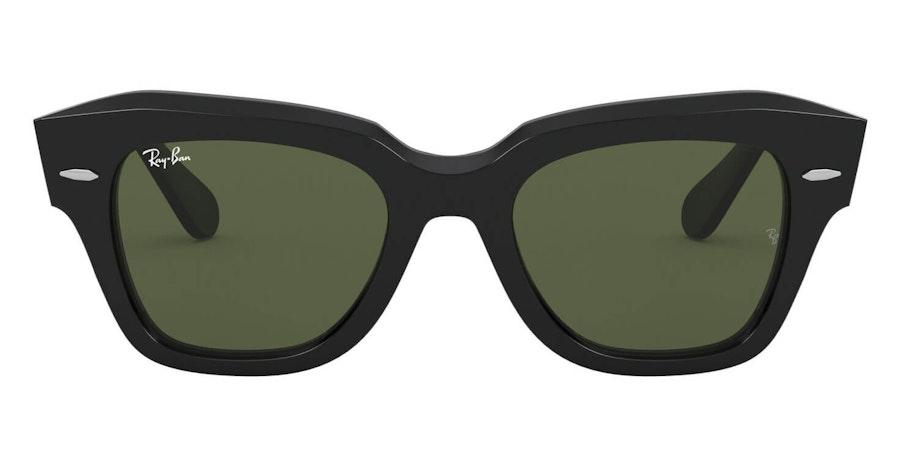 Ray-Ban State Street RB 2186 Unisex Sunglasses Green / Black