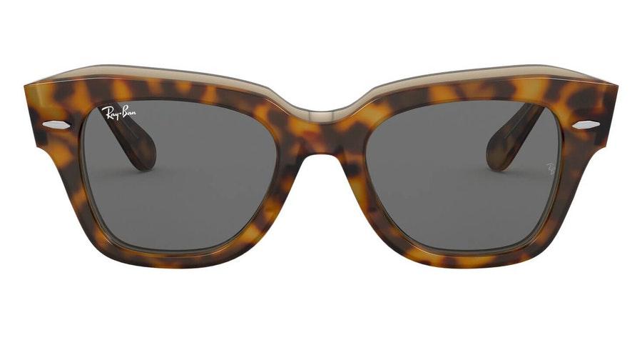 Ray-Ban State Street RB 2186 Unisex Sunglasses Grey / Havana