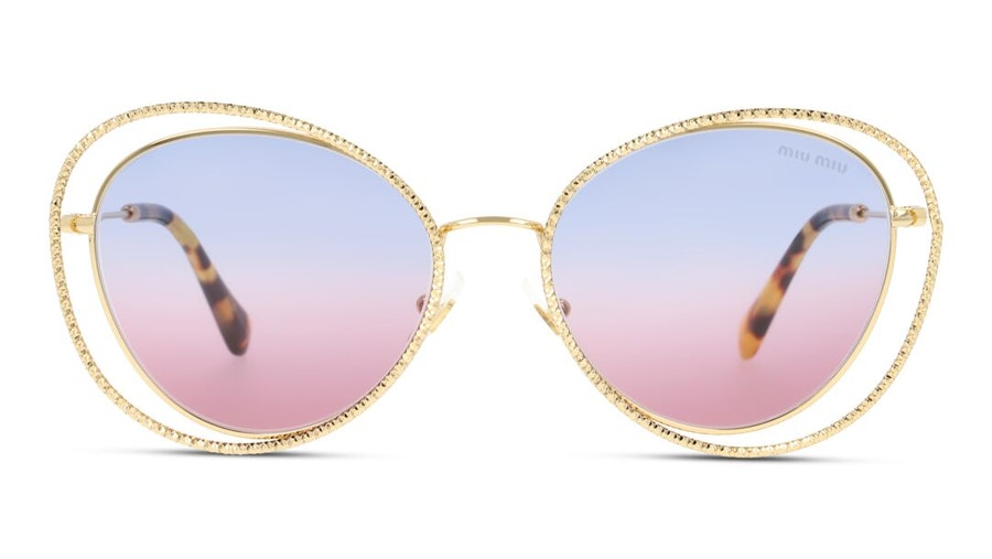 Miu Miu MU 59VS Women's Sunglasses Violet / Gold