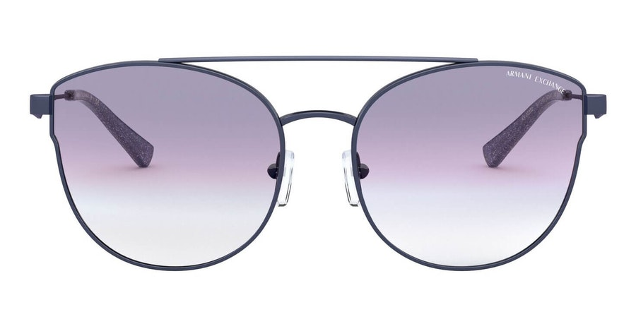 Armani Exchange AX 2032S Women's Sunglasses Blue / Blue