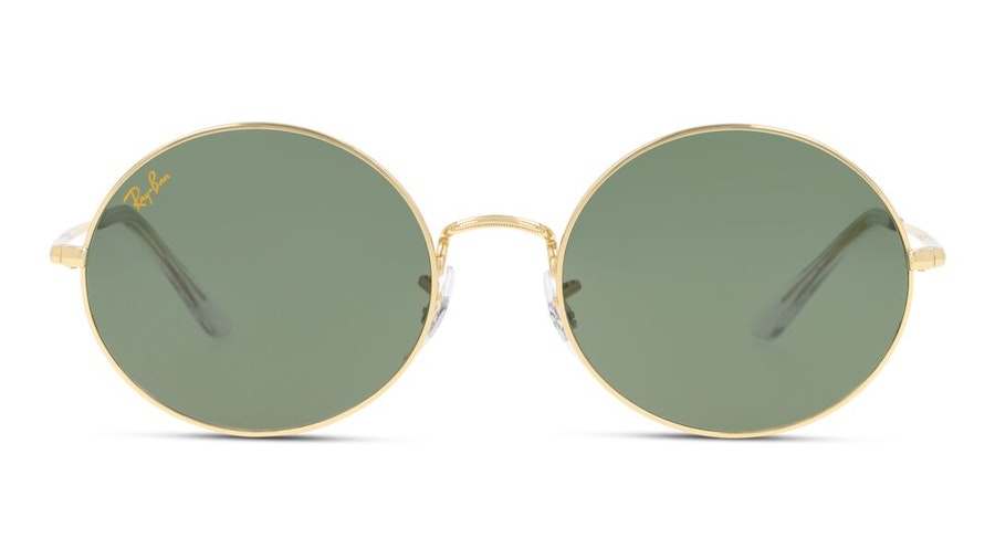 Ray-Ban Oval RB 1970 Unisex Sunglasses Green / Gold