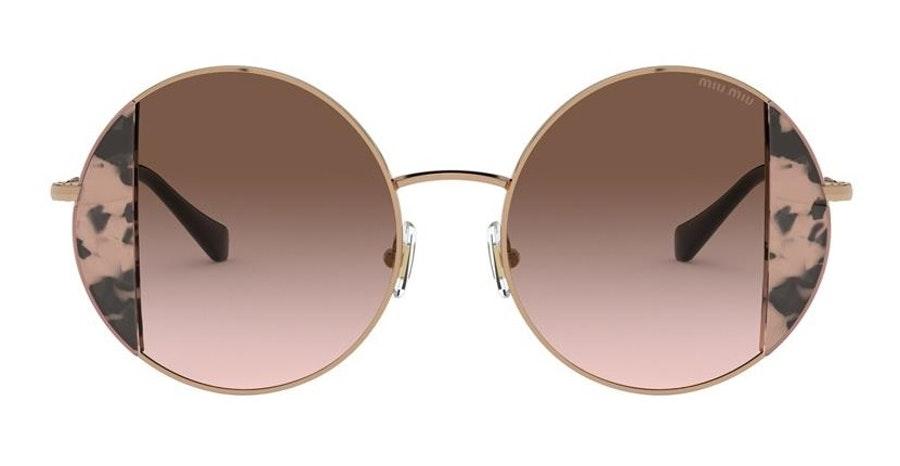 Miu Miu MU 57VS (07D0A6) Sunglasses Brown / Gold