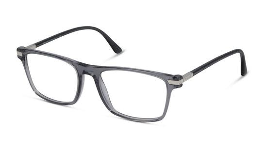 PR 01WV Men's Glasses Transparent / Grey
