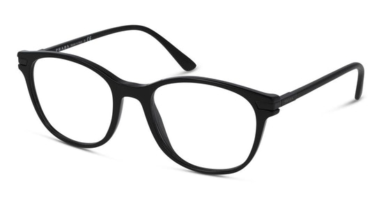 PR 02WV Men's Glasses Transparent / Black
