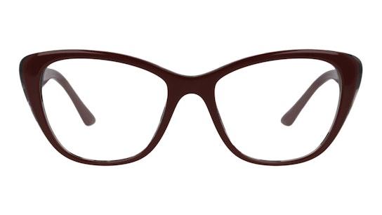 PR 04WV Women's Glasses Transparent / Burgundy