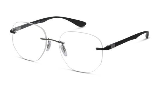 RX 8766 (Large) Men's Glasses Transparent / Black