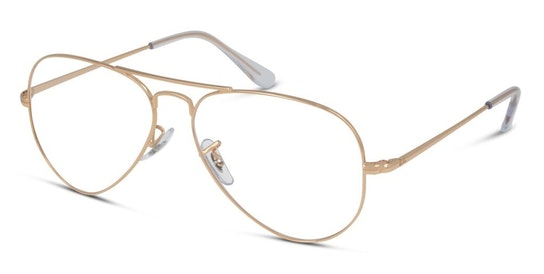 RX 6489 Men's Glasses Transparent / Pink