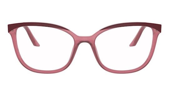 PR 07WV Women's Glasses Transparent / Burgundy