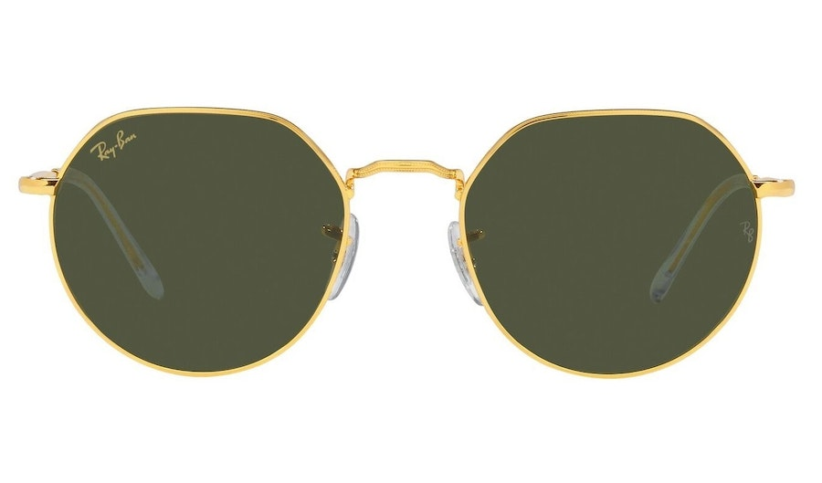 Ray-Ban Jack RB 3565 Unisex Sunglasses Green / Gold