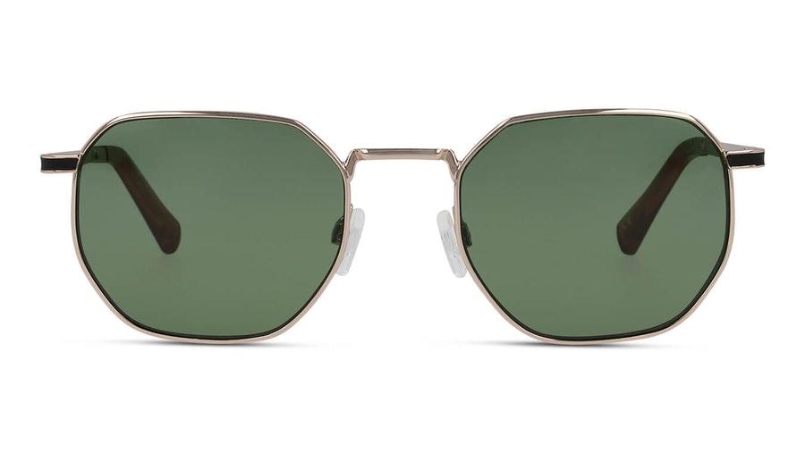 Hawkers Gold Green Bottle Sixgon 130021 Unisex Sunglasses Green / Gold