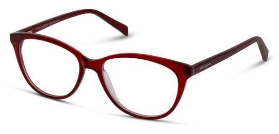 MN HF05 Women's Glasses Transparent / Red
