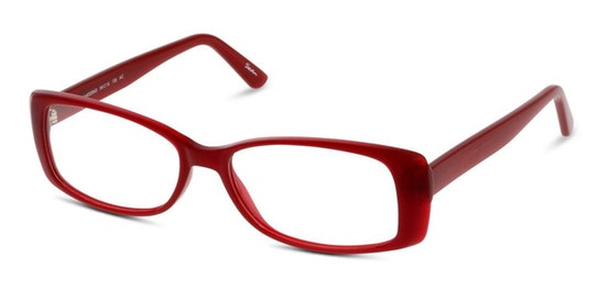 SN KF01 Women's Glasses Transparent / Red