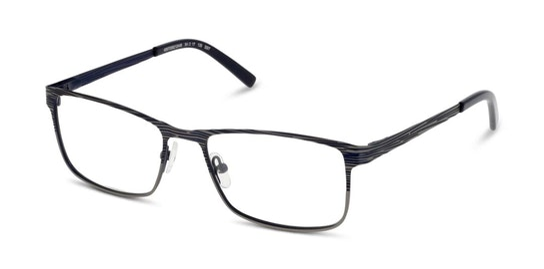 FU AM44 Men's Glasses Transparent / Blue