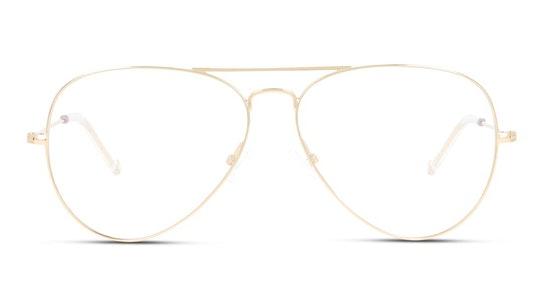 UNOF0155 (Large) Women's Glasses Transparent / Gold