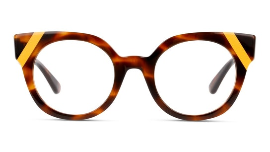 MN OF0025 Women's Glasses Transparent / Havana