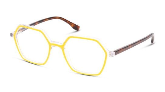 MN OF0021 Women's Glasses Transparent / Yellow