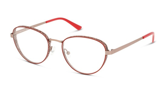 MN OF5002 Women's Glasses Transparent / Red