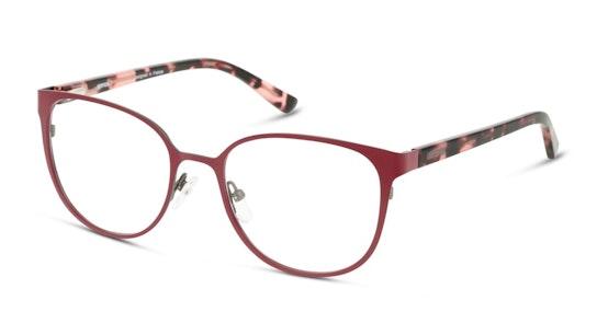 UNOF0237 Women's Glasses Transparent / Burgundy