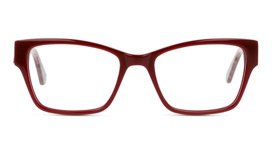 UNOF0201 Women's Glasses Transparent / Burgundy