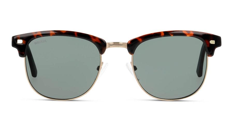 Unofficial UNSM0101 Unisex Sunglasses Green/Gold