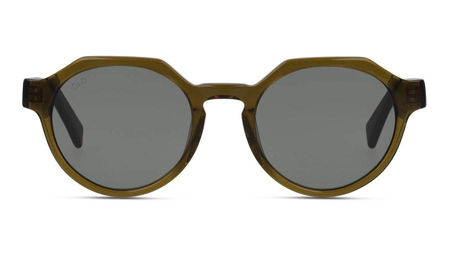 DbyD Bio-Acetate DB SU5003 Unisex Sunglasses Green / Brown