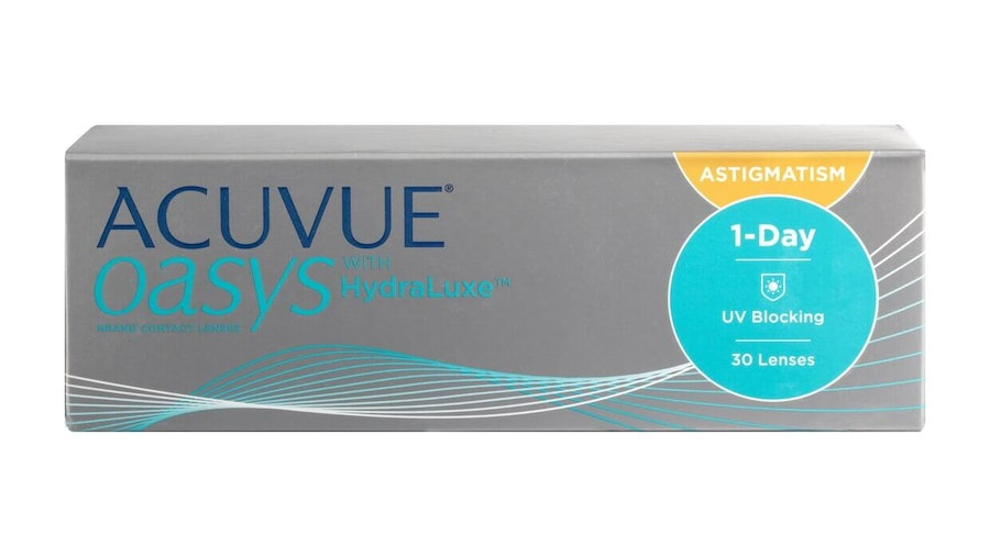 Acuvue Oasys with HydraLuxe (1 day toric for astigmatism)