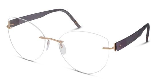 5553 (Large) Women's Glasses Transparent / Gold