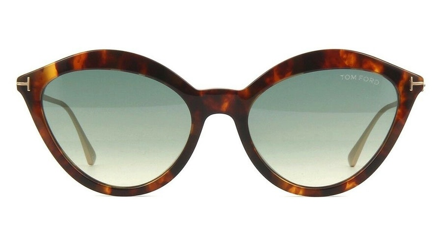 Tom Ford Chloe FT 663 (55P) Sunglasses Blue / Havana