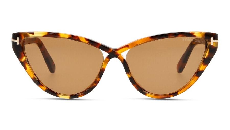 Tom Ford Charlie-02 FT 740 (55E) Sunglasses Brown / Havana