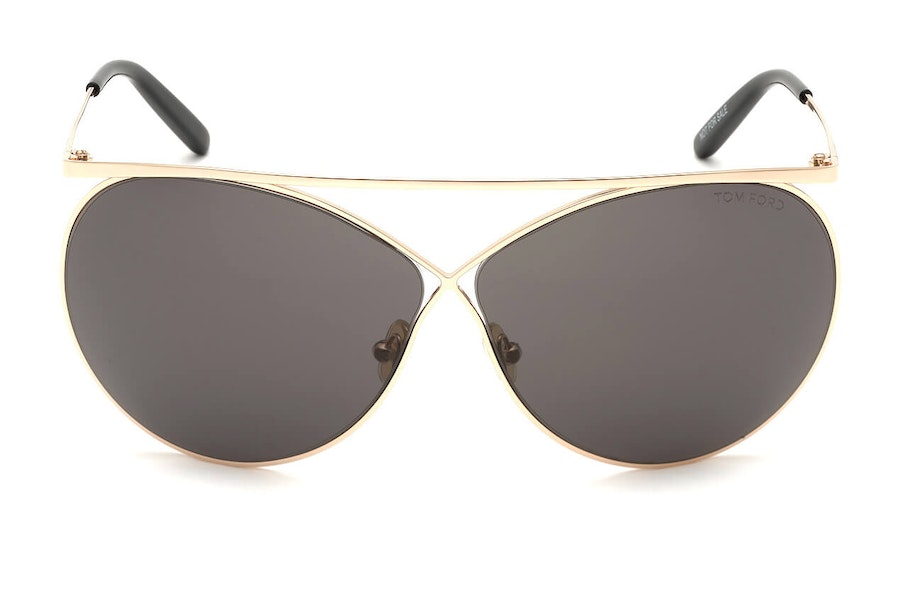 Tom Ford Vittorio FT 761 (28A) Sunglasses Grey / Rose Gold