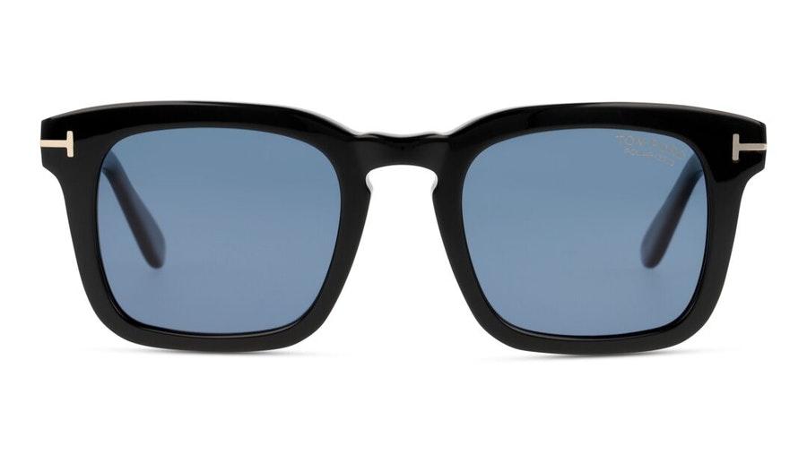 Tom Ford Dax FT 751 (01V) Sunglasses Blue / Black