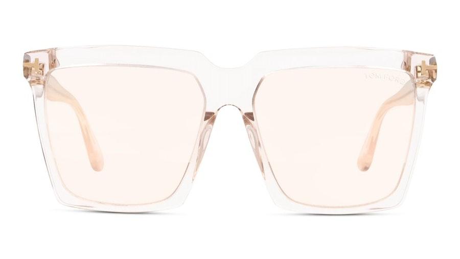 Tom Ford Cybil FT 764 (20Z) Sunglasses Pink / Transparent