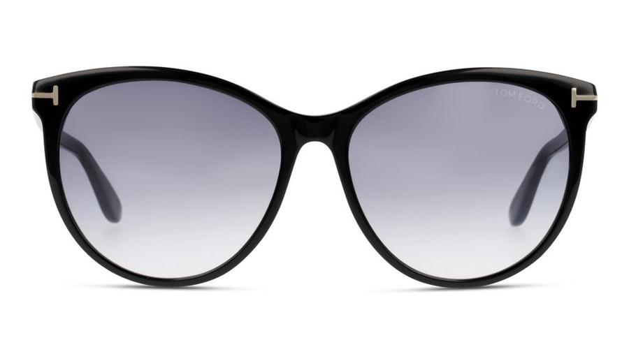 Tom Ford Lennox FT 787 (01B) Sunglasses Blue / Black