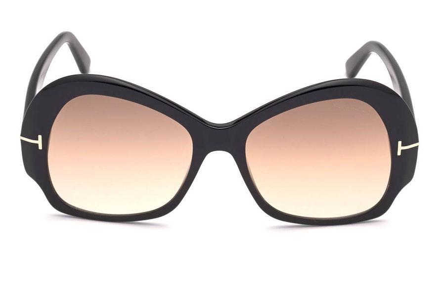 Tom Ford Zelda FT 874 (01G) Sunglasses Brown / Black