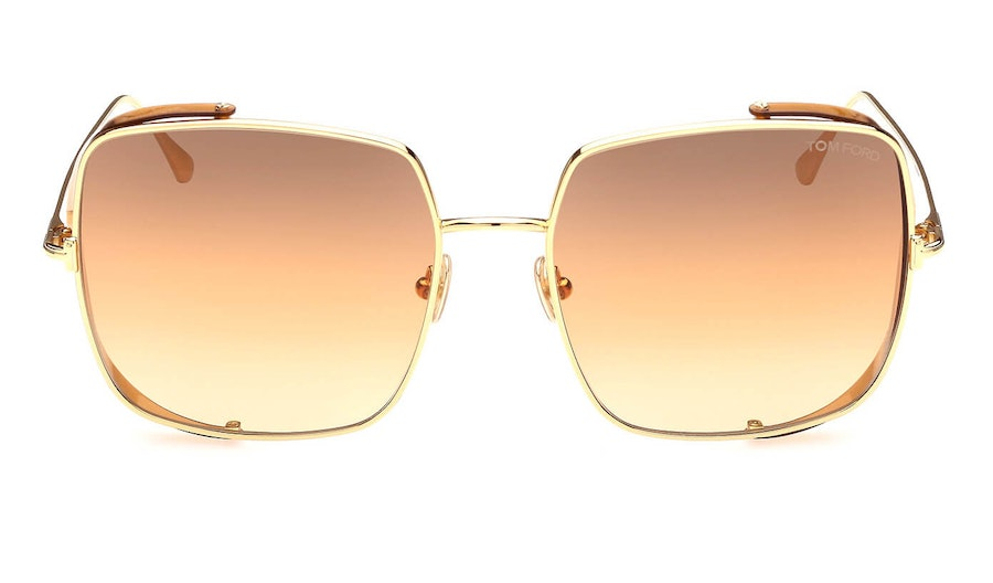 Tom Ford Toby-02 FT 901 (30F) Sunglasses Brown / Gold
