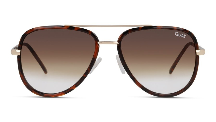 Quay All In Mini QU-000607 Unisex Sunglasses Brown / Tortoise Shell