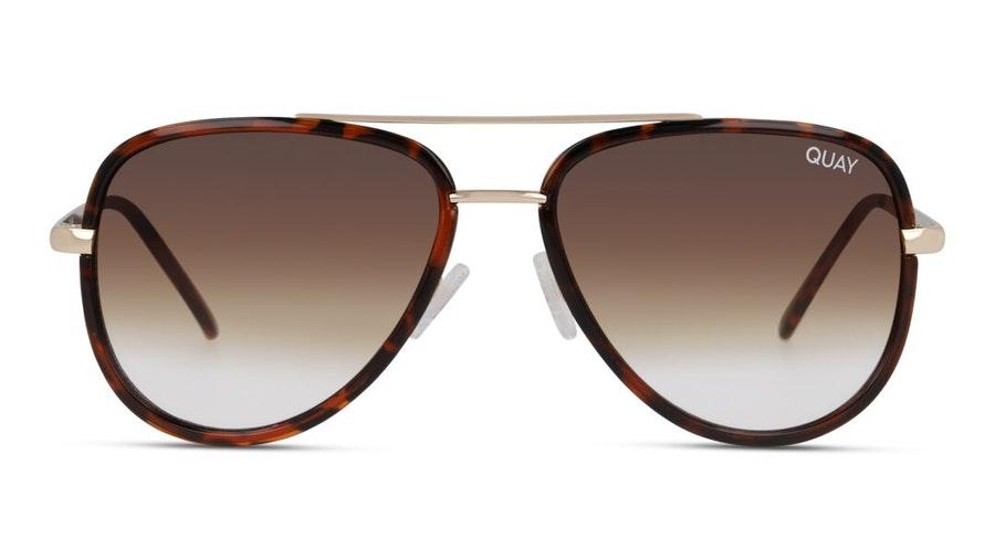 Quay All In Mini QU-000607 Unisex Sunglasses Brown/Tortoise Shell
