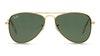 Ray-Ban Juniors RJ 9506S Children's Sunglasses Green/Gold