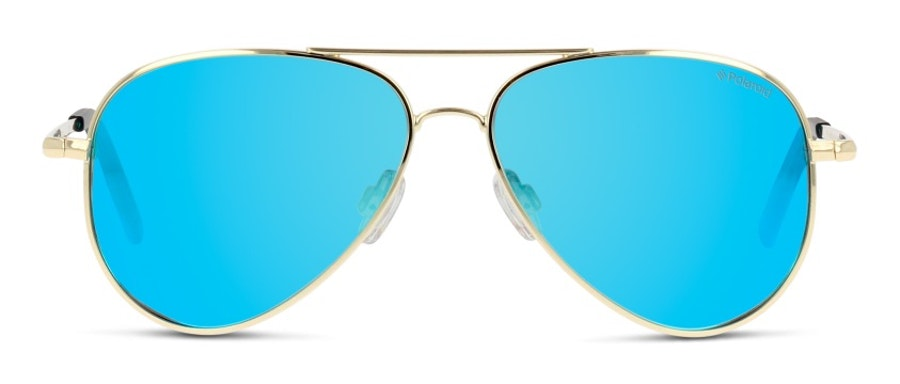 Polaroid Kids PLD 8015/N Children's Sunglasses Blue/Gold