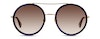 Gucci GG 0061S Women's Sunglasses Brown/Blue