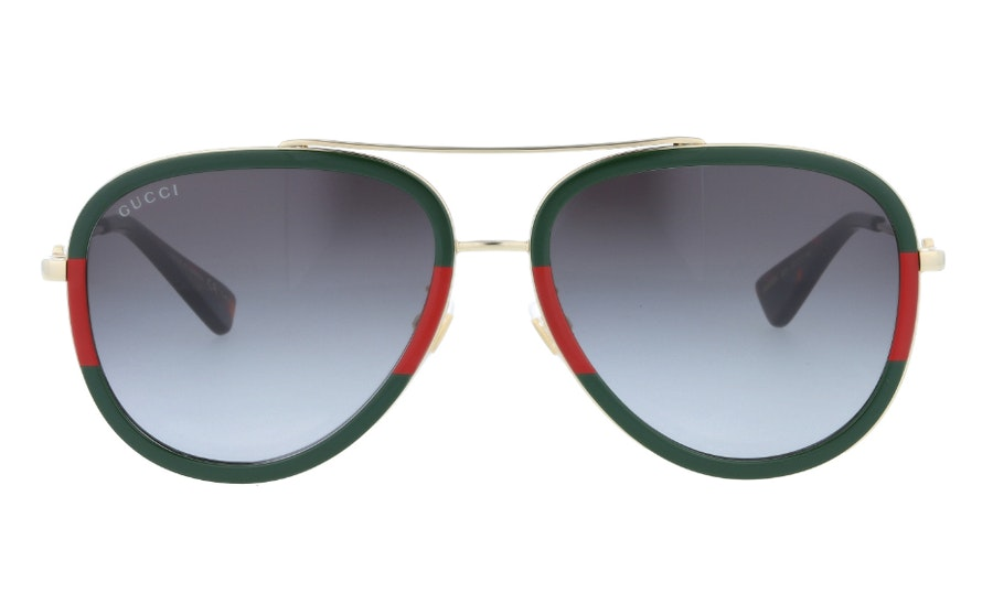 Gucci GG 0062S Unisex Sunglasses Green/Gold